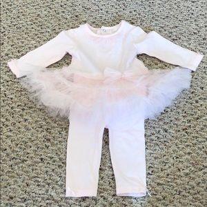 Pink Bloomie's Baby Tutu Top and Leggings Set